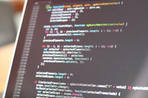 Foto Quellcode auf Bildschirm