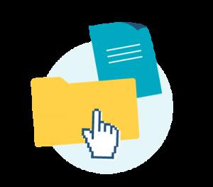 Icon mit Dateifolder und Datei Symbol