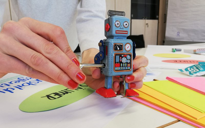 Workshop Aufzieh-Roboter